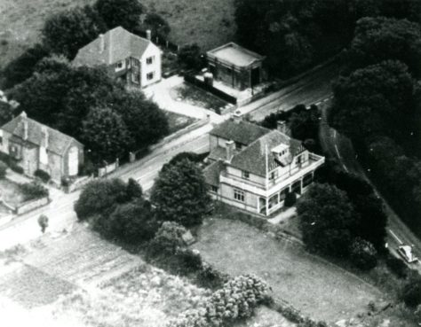 Aerial view of the Golf Club House, Station Road