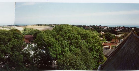 From St Margaret's church tower looking east.  23 August 2005