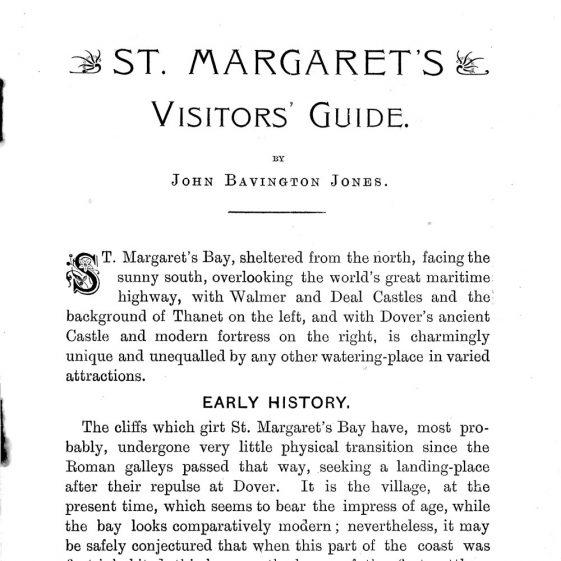 'St Margaret's Visitors Guide' by John Bavington Jones. nd, title pages - page 6   John Bavington Jones