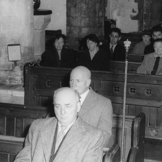 St Margaret's church congregation. c1953