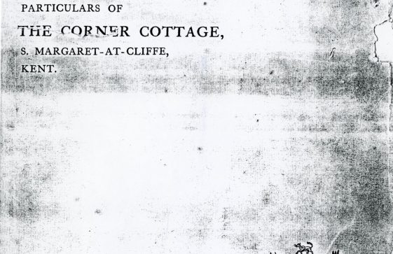 Sale of Corner Cottage Granville Road. 1907