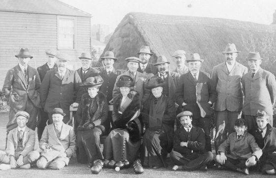 Photograph of Bowls Club members in 1914