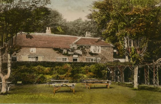 The Green Man from the garden, St Margaret's Bay. date 1904. postmarked 1917