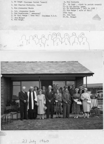 Opening of the new pavilion at King George V Field Well Lane on 1st July 1960