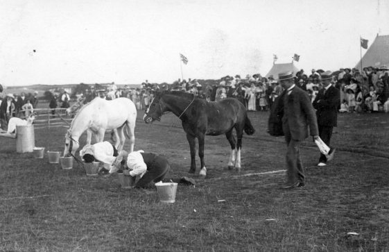 Mounted Costume Race at St Margaret's Sports Day. 1911