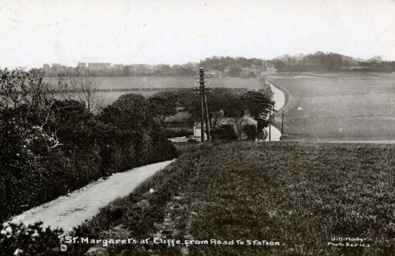 From the top of Station Road towards the village. postmark 1950