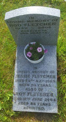 Gravestone of FLETCHER Roderick John 2006; FLETCHER Jessie 1989; FLETCHER Reginald Roy 2004