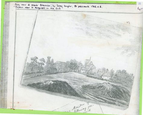 'Barrows near St Margaret's at Cliffe'. Plate from Archaeologia Nenia Britannica 1782