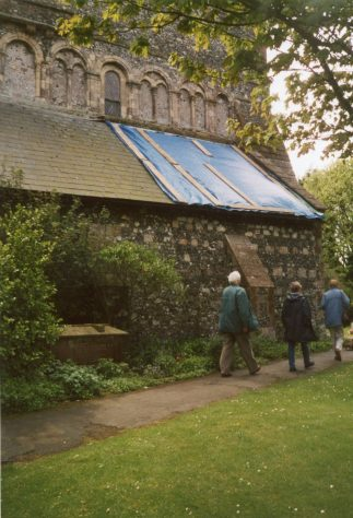 Repairs to the vestry roof. 5 May 2004