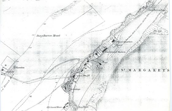 Map showing Coastguard Station in St Margaret's Bay. 1861