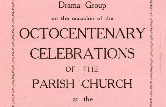 Programme for the plays presented as part of the Octocentenary Celebrations for the Parish Church. 1960