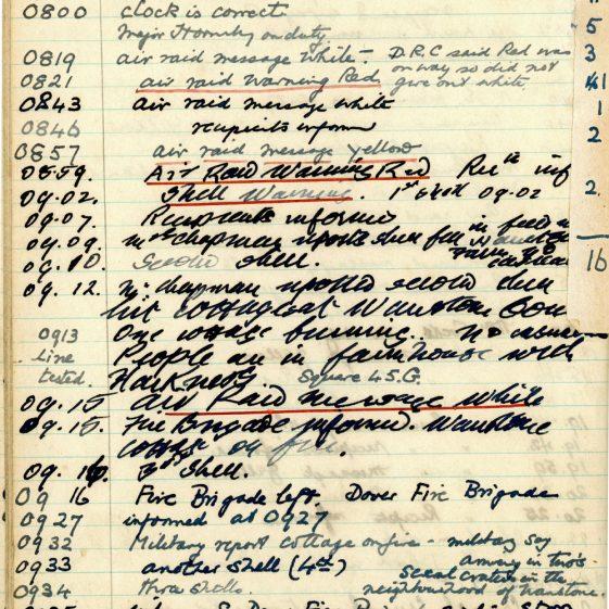 St Margaret's ARP (Air Raid Precautions) Log. Volume 3. 2 November 1940 - 17 February 1941. Pages 35-42