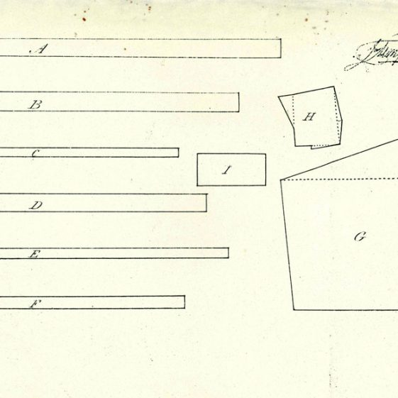 Extract and plan from the Glebe Terrier for St Margaret's church 14 October 1833.
