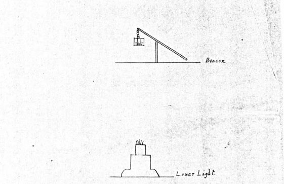 Beacon to be placed between Upper and Lower Lighthouses while roof repairs undertaken. 1698