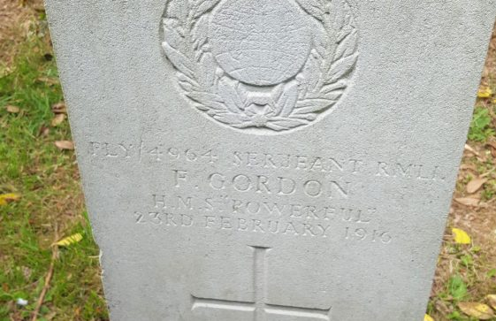 Gravestone of GORDON Frank 1916