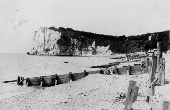 Ness Point from the beach. Pre 1914