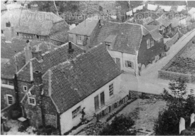From St Margaret's church tower over the High Street. c1908