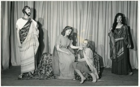 Scene from WI production of 'St Margaret of Antioch'. 1960