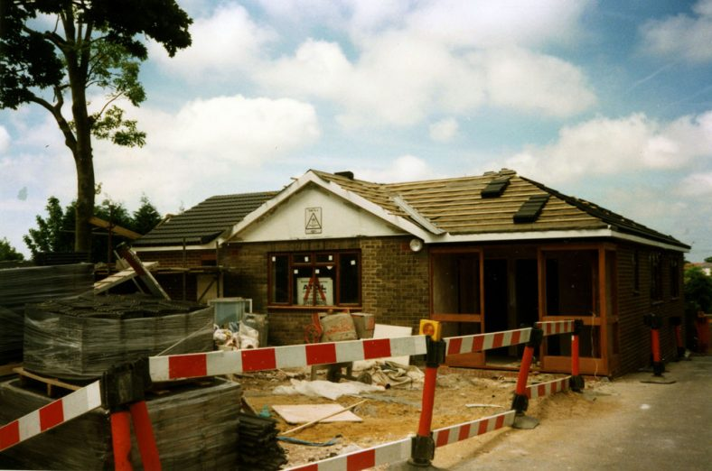 Construction work on the Doctor's Surgery at Tara, The Droveway. 1996