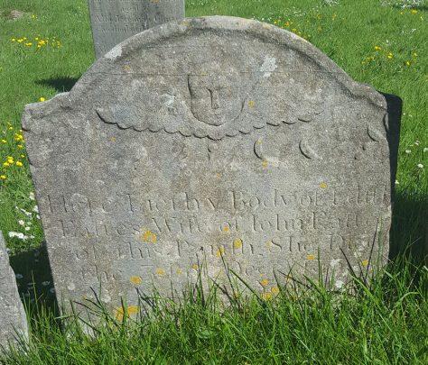 Gravestone of EASTES Edith 1755