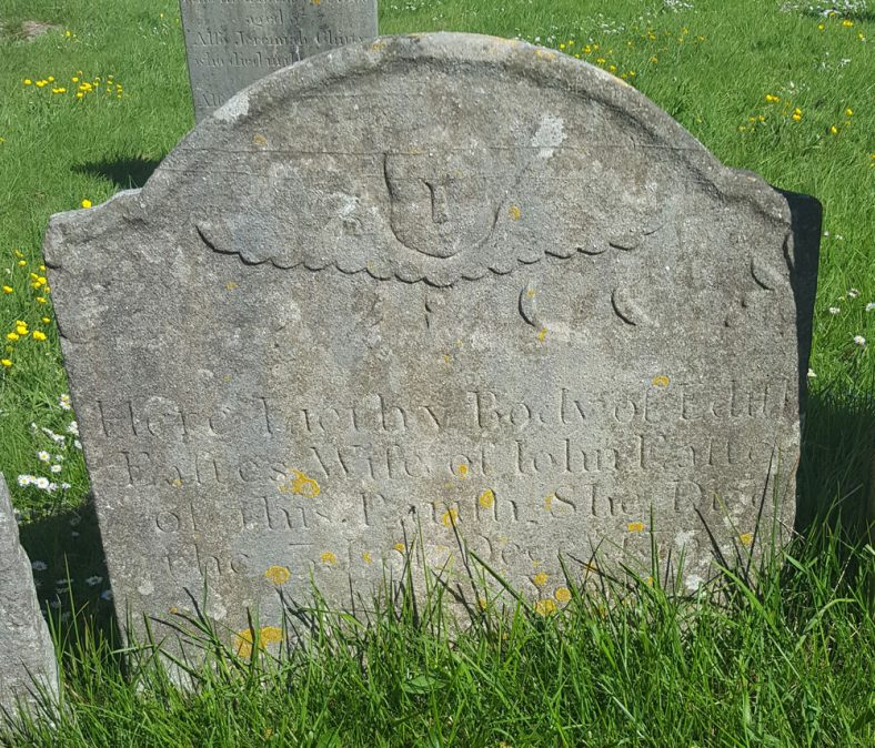 Gravestone of EASTES Edith 1755 | Dawn Sedgwick