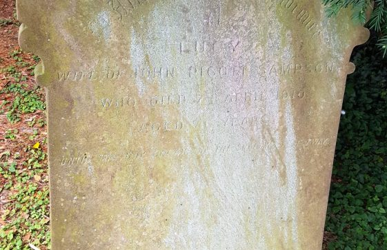 Gravestone of SAMPSON Lucy 1910