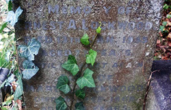 Gravestone of LOCKWOOD Mary S 1968; LOCKWOOD Ernest A 1955