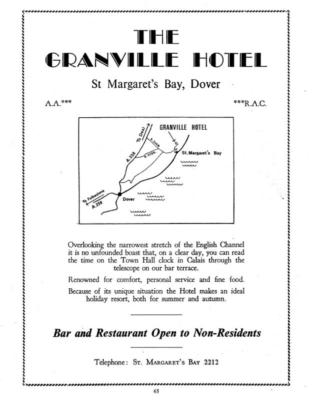 Advertisement for Granville Hotel, Hotel Road. c1973