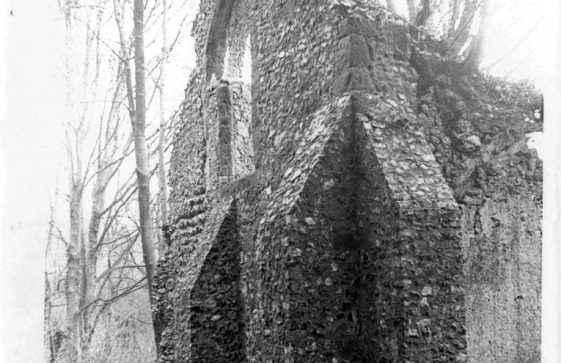 St Nicholas Church, Oxney in ruins