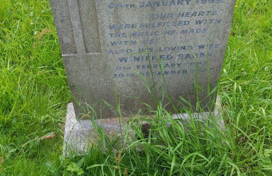 Gravestone of COCKS Charles Edward 1969; COCKS Winifred Sarah 1987