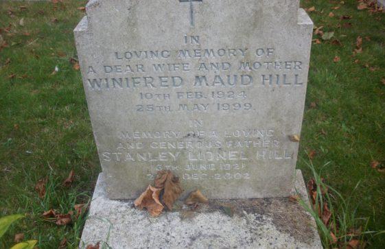 Gravestone of HILL Stanley Lionel 2002; HILL Winifred Maud 1999