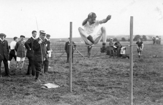High jump at St Margaret's Sports Day.  25th August 1910