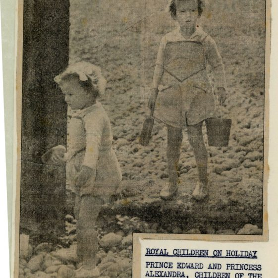 Prince Edward and Princess Alexandra at St Margaret's Bay. 1939