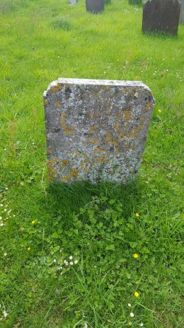 Gravestone of CORE Mary Jane 1874; CORE Thomas Bryce 1896; PROUDFOOT Ann 1924