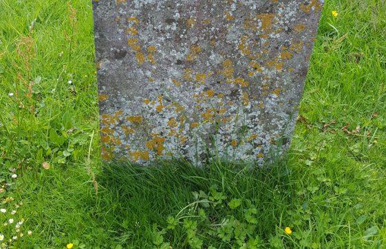 Gravestone of CORE Mary Jane 1874; CORE Thomas Bryce 1896; PROUDFOOT Ann 1924