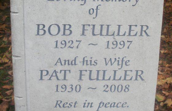 Gravestone of FULLER Patricia Maureen 2008; FULLER Robert William 1997