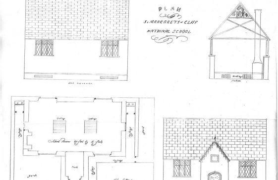 Plan of St Margaret's National School, Kingsdown Road. 1846/47