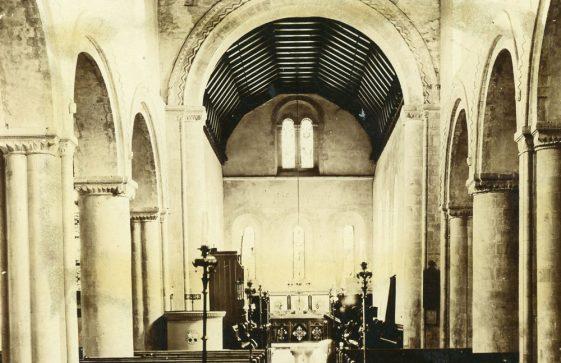 Interior of St Margaret's Church facing east. c.1900