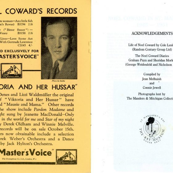 'Noel Coward and St Margaret's Bay' by J Melhuish and C Jewell