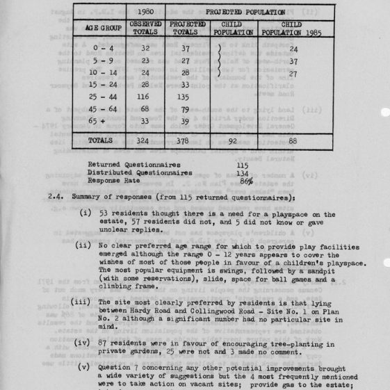 DDC Planning Committee Survey and Review on  Nelson Park Estate. 2 April 1981