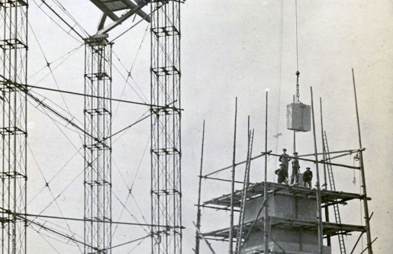 A series of photographs showing the Dover Patrol Memorial under construction. 1920 & 1921