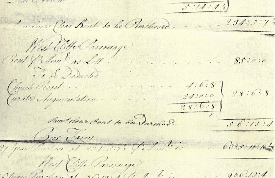 Document re purchase of Beer Farm and Westcliffe Parsonage. c1745