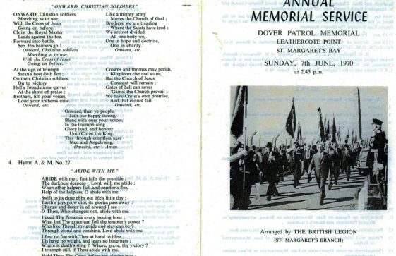 49th Dover Patrol Memorial Service. 7 June 1970.
