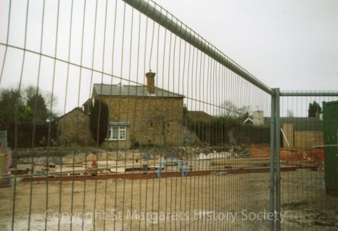 Site of former Knoll Garage, High Street and rear of Moonrakers, Chapel Lane.  Spring 2004.