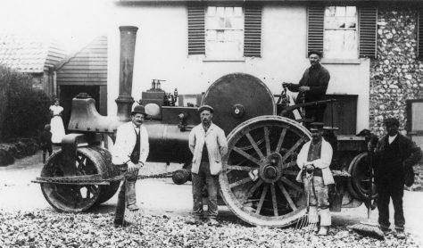 The Village Steam-Roller, Sea Street. July 1905