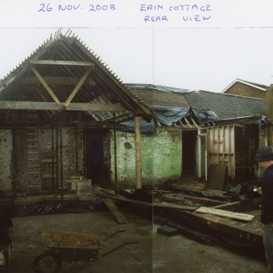 Erin Cottages, Well Lane, early renovation work. 2008