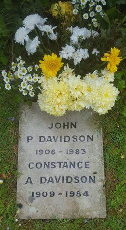 Gravestone of DAVIDSON Constance A 1984; DAVIDSON John P 1983