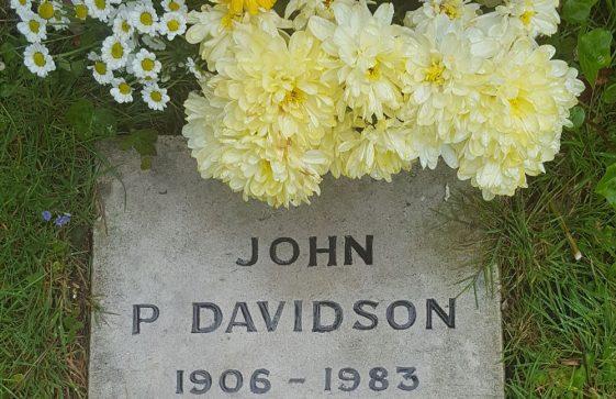 Gravestone of DAVIDSON Constance A 1984; DAVIDSON John P 1984