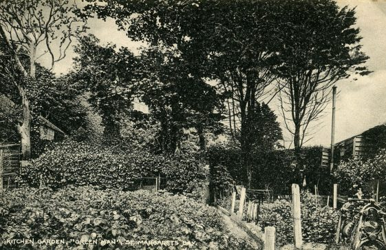 The Green Man St Margaret's Bay, kitchen garden. early 1920's