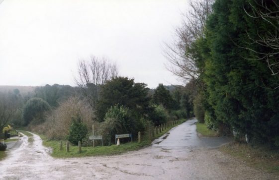 The junction between The Crescent and Foreland Road.15 February 2005